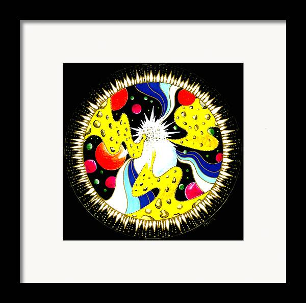 Energy Framed Print featuring the painting Music Of The Heart by Pam Ellis