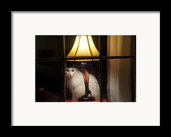 Leg Lamp Framed Print featuring the photograph My Major Award by Kenneth Albin