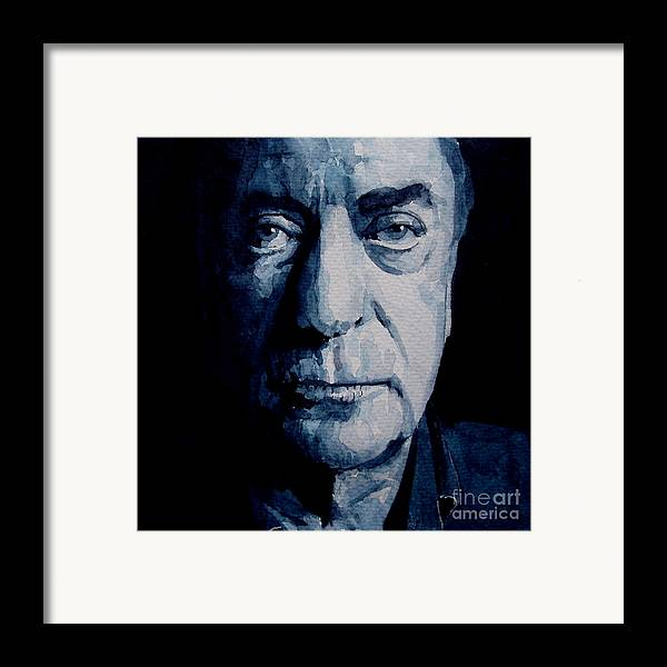 Michael Caine Framed Print featuring the painting My Name Is Michael Caine by Paul Lovering
