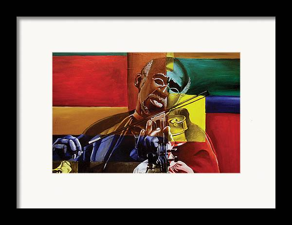 Black Art Framed Print featuring the painting My Old Friend by Stacy V McClain