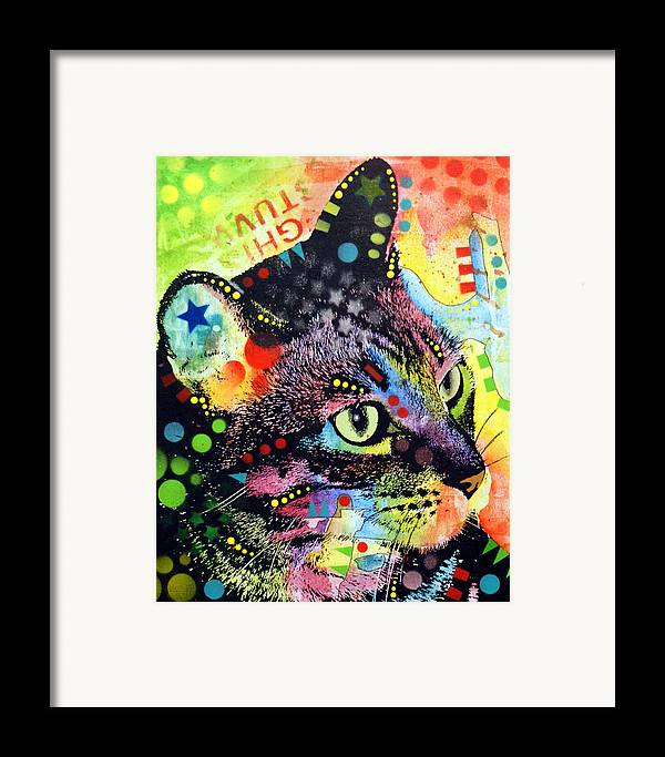 Kitten Framed Print featuring the painting Nappy Cat by Dean Russo
