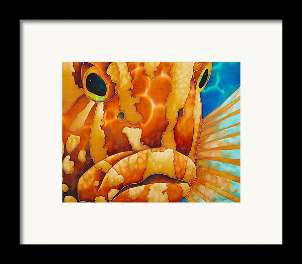 Grouper Painting Framed Print featuring the painting Nassau Grouper by Daniel Jean-Baptiste