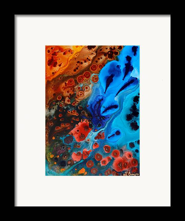 Abstract Framed Print featuring the painting Natural Formation by Sharon Cummings