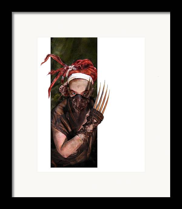 Fantasy Framed Print featuring the drawing Neobedouin - Beast Dancer by Mandem