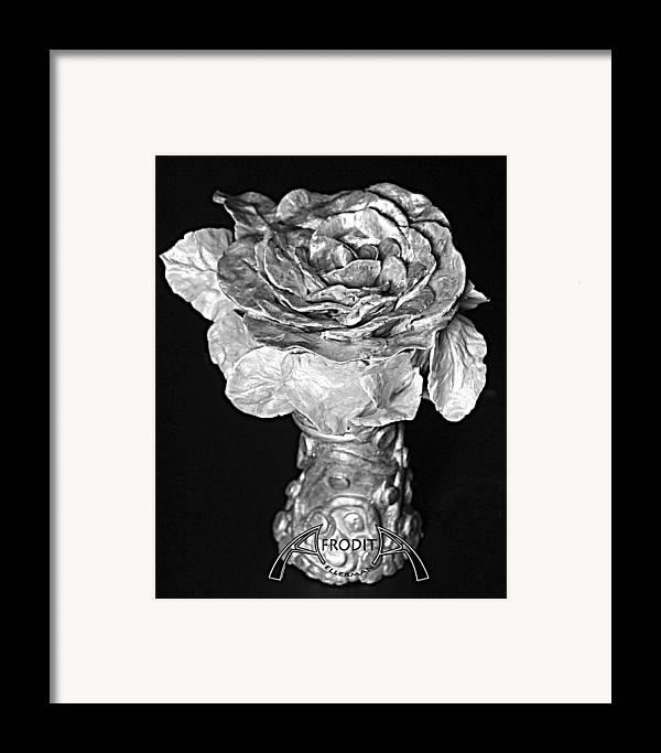 Flower Framed Print featuring the ceramic art New Sculpture by Afrodita E