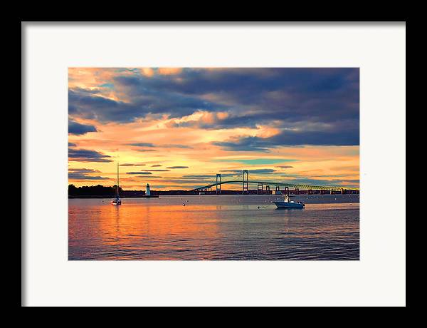 Newport Framed Print featuring the photograph Newport Gold by Joann Vitali