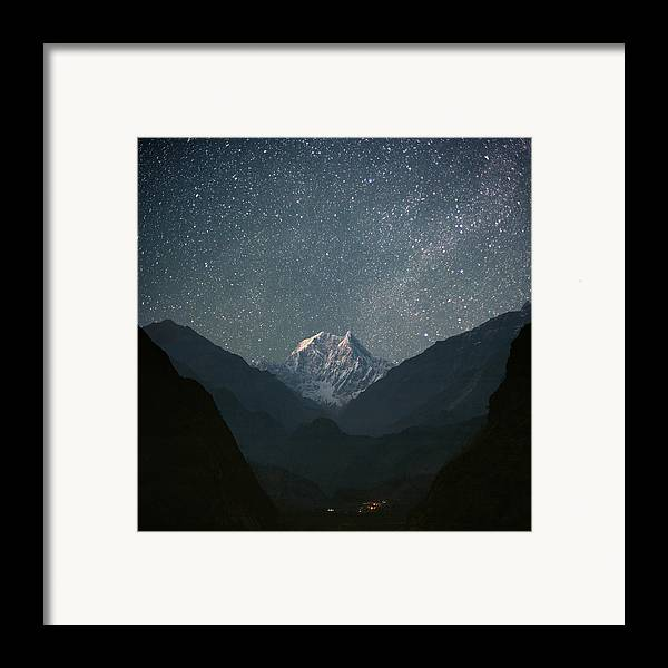 Square Framed Print featuring the photograph Nilgiri South (6839 M) by Anton Jankovoy