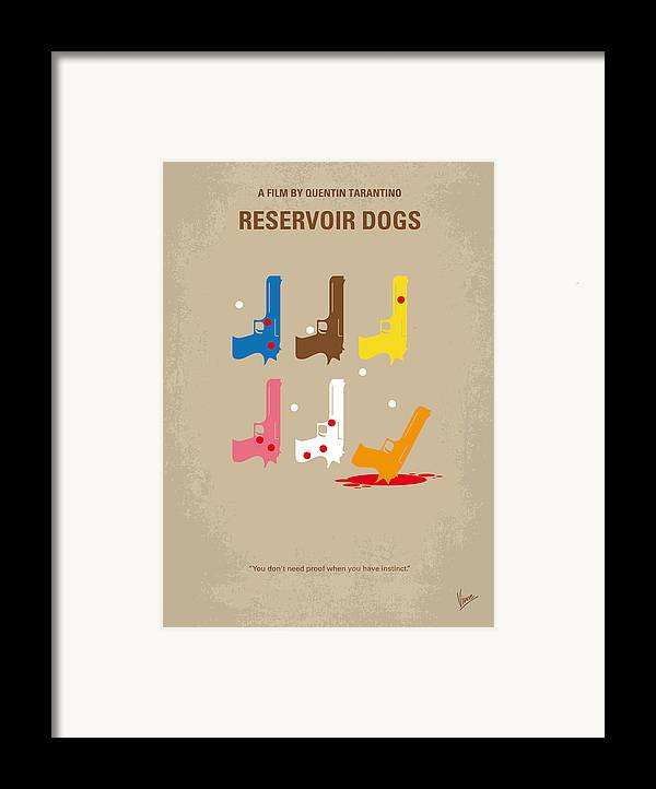 Reservoir Framed Print featuring the digital art No069 My Reservoir Dogs Minimal Movie Poster by Chungkong Art