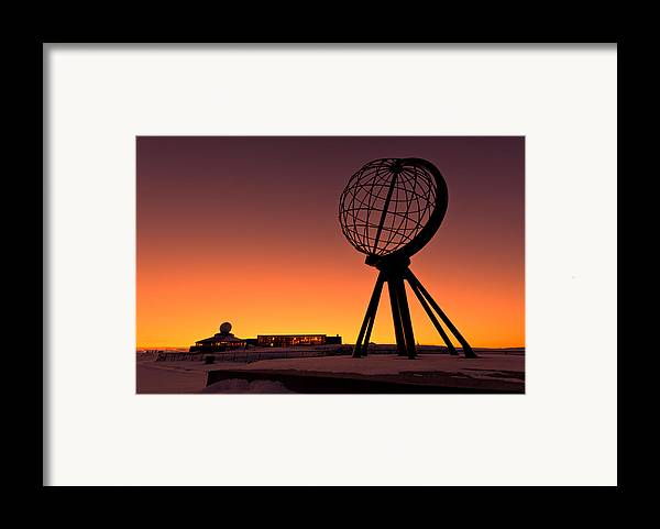 Longitude Framed Print featuring the photograph North Cape Norway At The Northernmost Point Of Europe by Ulrich Schade