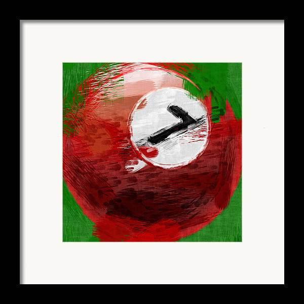 Seven Framed Print featuring the photograph Number Seven Billiards Ball Abstract by David G Paul