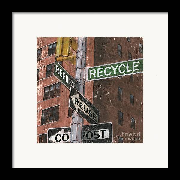 Vintage Framed Print featuring the painting Nyc Broadway 1 by Debbie DeWitt