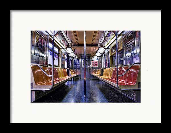 Subway Framed Print featuring the photograph Nyc Subway by Kelley King