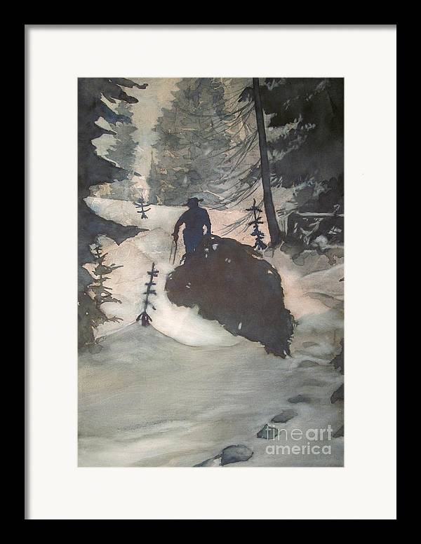 Christmas Framed Print featuring the painting O Tannenbaum by Elizabeth Carr
