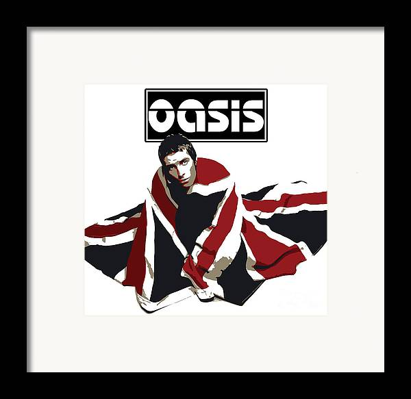 Oasis Framed Print featuring the digital art Oasis No.01 by Unknow