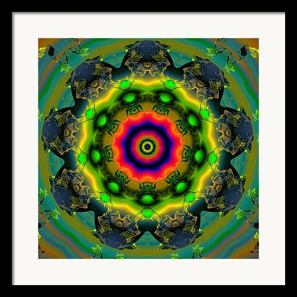 Abstract Colorful Algorithmic Digital Contemporary Framed Print featuring the digital art Ocf 479 by Claude McCoy