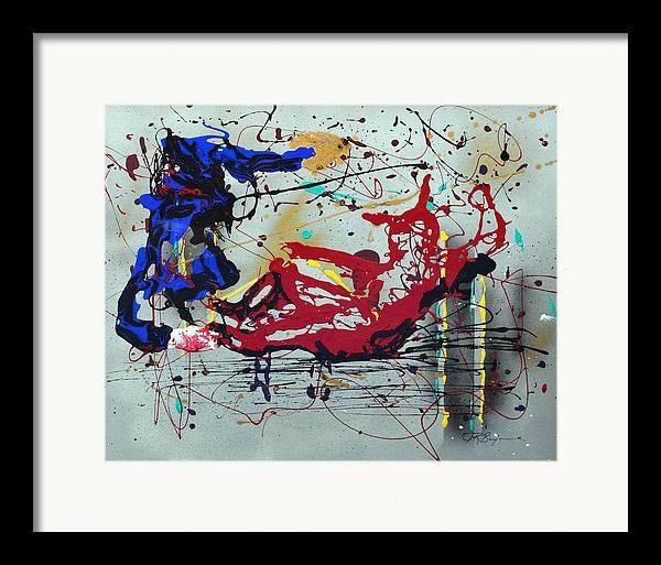 Baseball Framed Print featuring the painting October Fever by J R Seymour