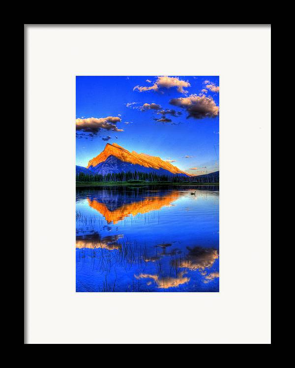 Mountain Framed Print featuring the photograph Of Geese And Gods by Scott Mahon