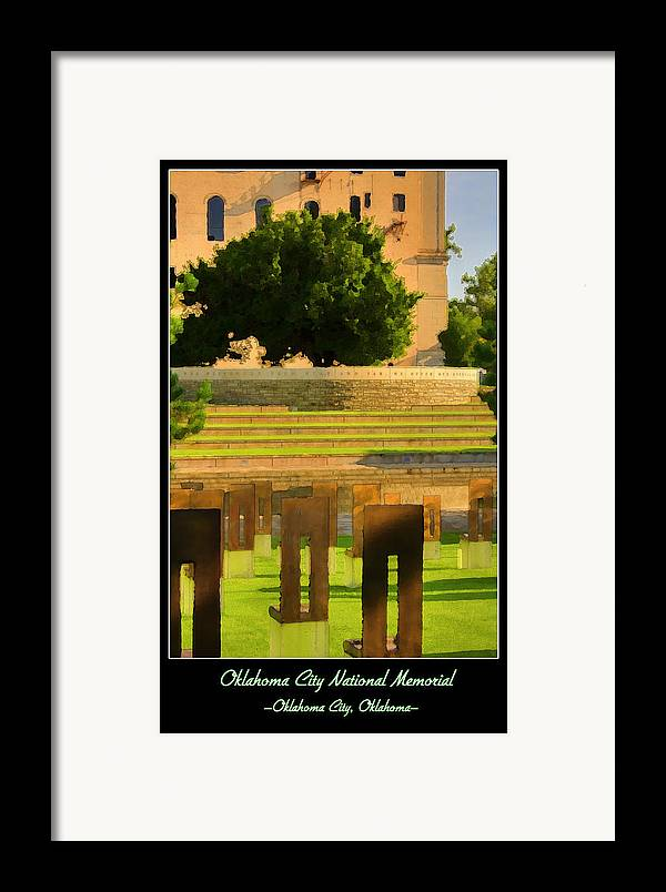 Oklahoma Framed Print featuring the photograph Oklahoma City National Memorial by Ricky Barnard
