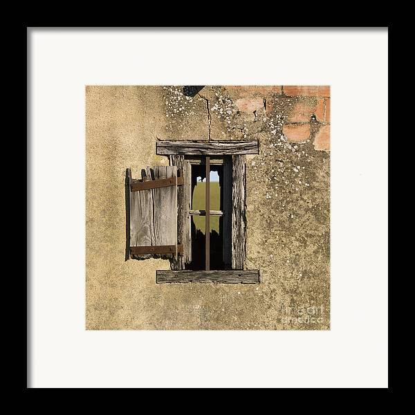 Window Framed Print featuring the photograph Old Shack by Bernard Jaubert