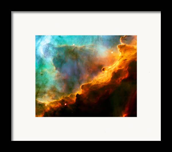Nebula Framed Print featuring the photograph Omega Swan Nebula 3 by The Vault - Jennifer Rondinelli Reilly