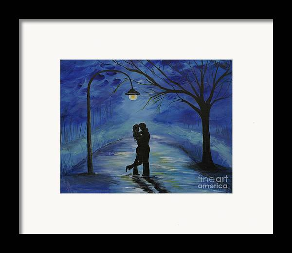 Couple Framed Print featuring the painting One Love One Lifetime by Leslie Allen