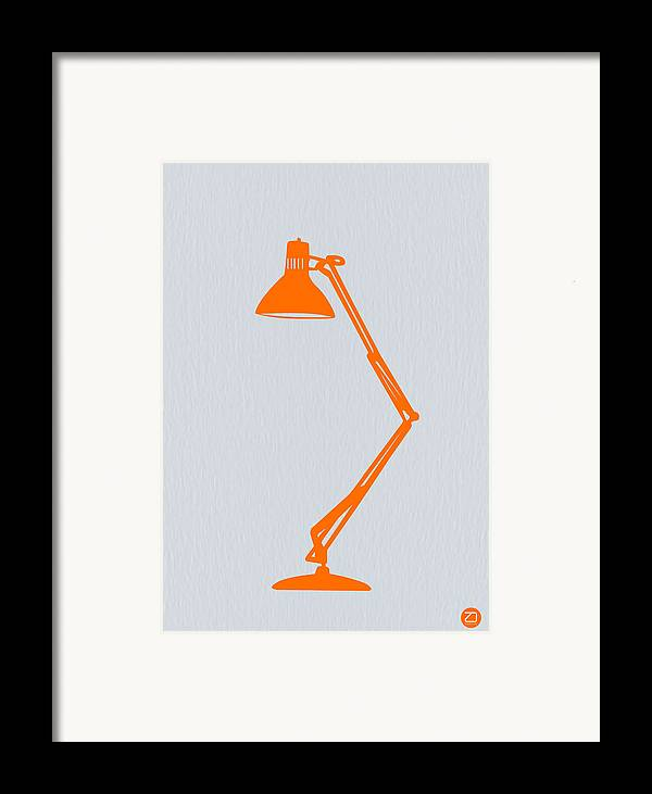 Lamp Framed Print featuring the photograph Orange Lamp by Naxart Studio