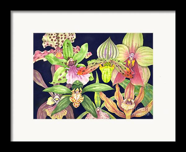 Orchids Framed Print featuring the painting Orchids by Lucy Arnold