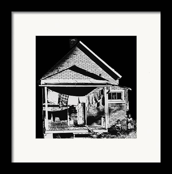 Poor Framed Print featuring the photograph Other Side Of America by Don Wolf