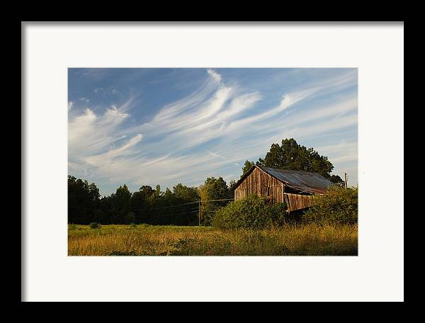 Barn Framed Print featuring the photograph Painted Sky Barn by Benanne Stiens