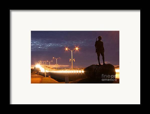 Palatka Framed Print featuring the photograph Palatka Memorial Bridge Doughboy by Angie Bechanan
