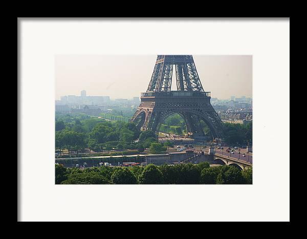Horizontal Framed Print featuring the photograph Paris Tour Eiffel 301 Pollution, Pollution by Pascal POGGI