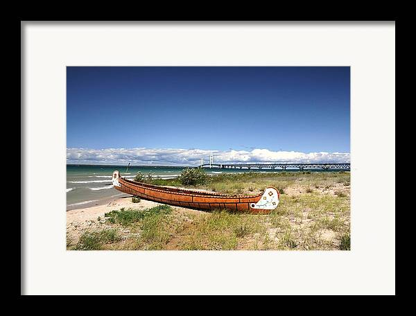 Canoe Framed Print featuring the photograph Past And Present by G Teysen