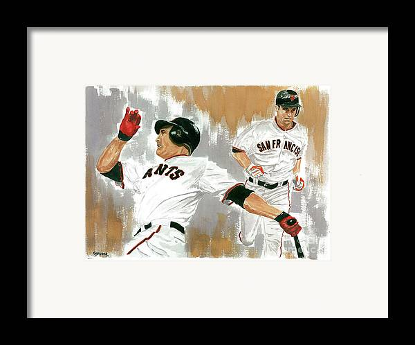 Pat Burrell Framed Print featuring the painting Pat Burrell Study 1 by George Brooks