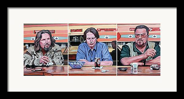 The Big Lebowski Framed Print featuring the painting Pause For Reflection by Tom Roderick