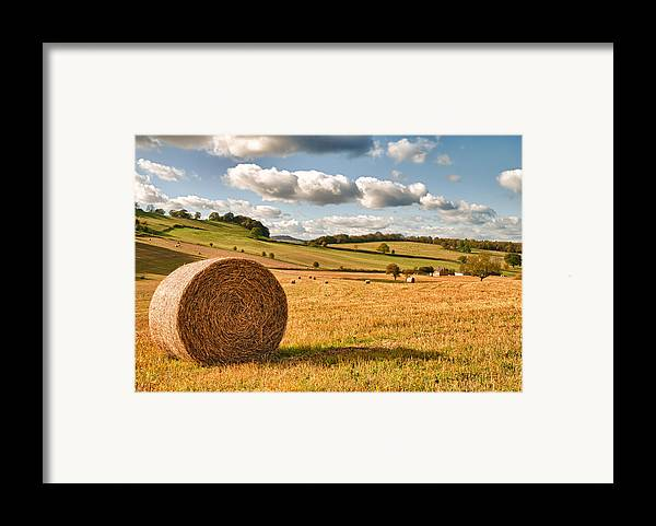 Straw Framed Print featuring the photograph Perfect Harvest Landscape by Amanda And Christopher Elwell
