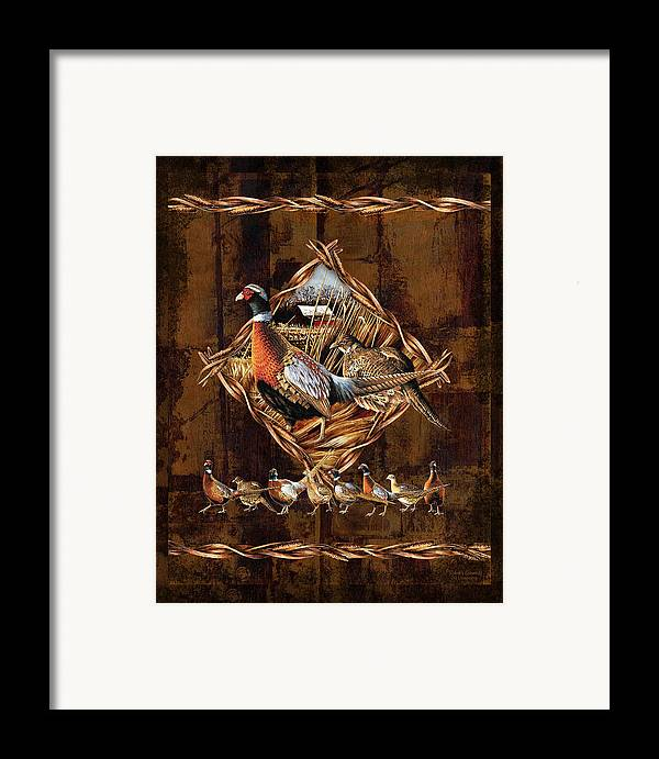 Wildlife Framed Print featuring the painting Pheasant Lodge by JQ Licensing