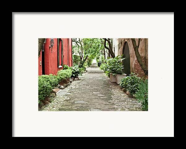 Philadelphia Alley Framed Print featuring the photograph Philadelphia Alley Charleston Pathway by Dustin K Ryan