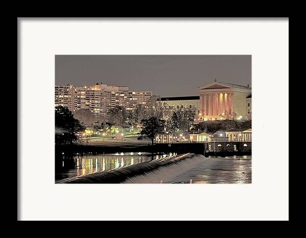 Philadelphia Framed Print featuring the photograph Philadelphia Art Museum In Pastel by Deborah Crew-Johnson