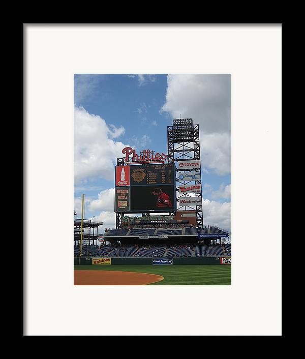 Citizens Bank Park Framed Print featuring the photograph Phillies by Jennifer Sweet