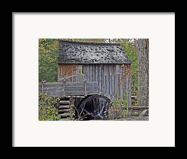 Pioneer Framed Print featuring the digital art Pioneer Water Mill by DigiArt Diaries by Vicky B Fuller