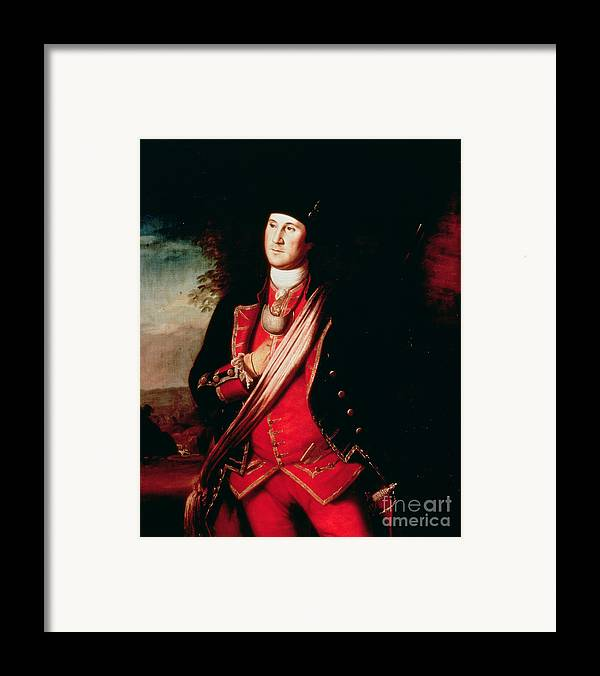 Portrait Framed Print featuring the painting Portrait Of George Washington by Charles Willson Peale