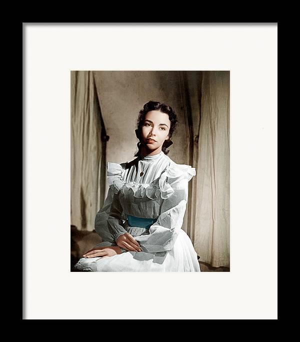 1940s Portraits Framed Print featuring the photograph Portrait Of Jennie, Jennifer Jones, 1948 by Everett