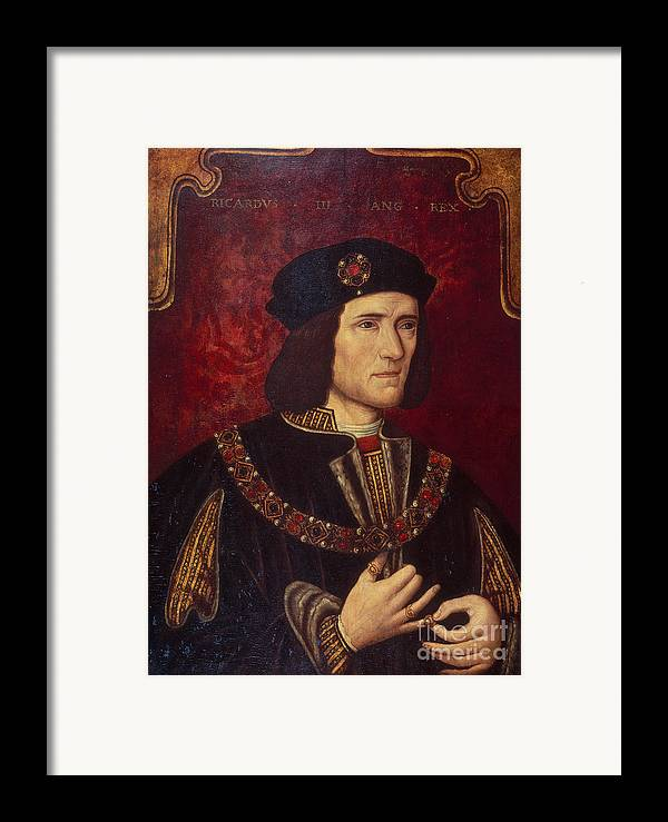 Portrait Framed Print featuring the painting Portrait Of King Richard IIi by English School