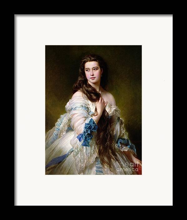 Portrait Framed Print featuring the painting Portrait Of Madame Rimsky Korsakov by Franz Xaver Winterhalter