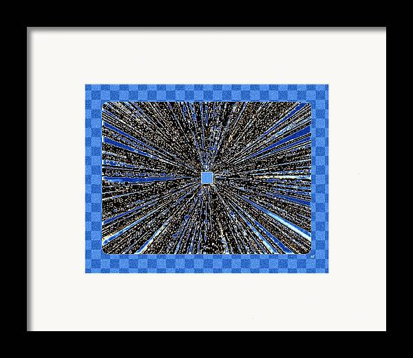 Abstract Framed Print featuring the digital art Positive Energy by Will Borden