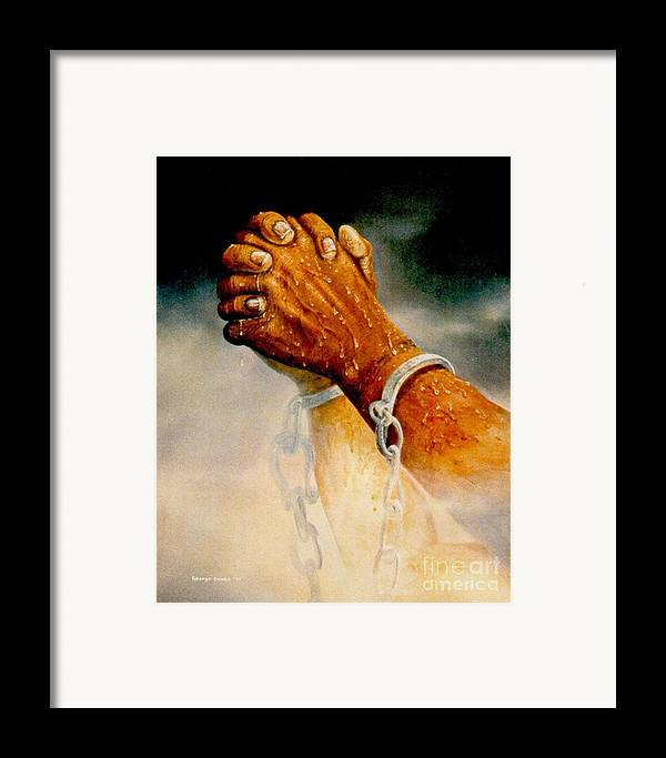 Blessing Framed Print featuring the painting Praying Hands by George Combs