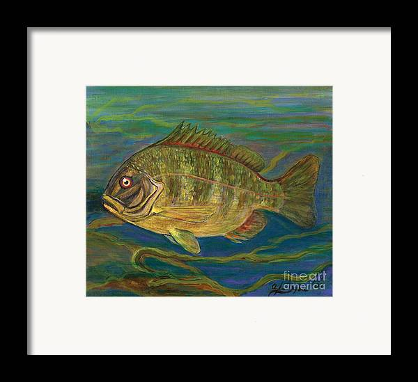 Folkartanna Framed Print featuring the painting Predatory Fish by Anna Folkartanna Maciejewska-Dyba