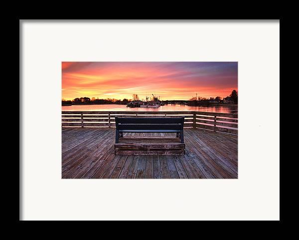Prescott Pier Framed Print featuring the photograph Prescott Pier by Eric Gendron