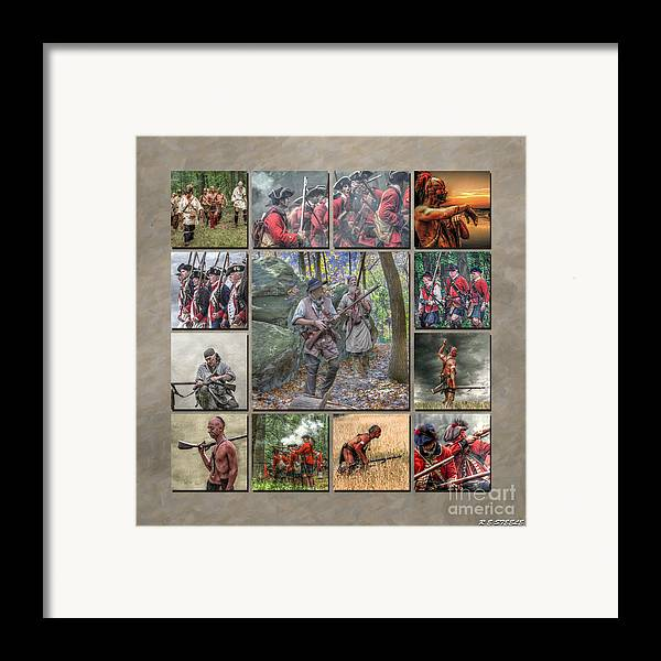 Uniform Framed Print featuring the photograph Print Collection French And Indian War by Randy Steele