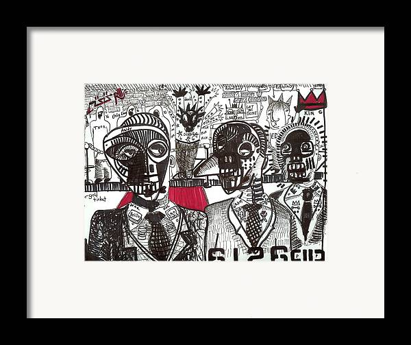 Rwjr Framed Print featuring the drawing Private Party by Robert Wolverton Jr